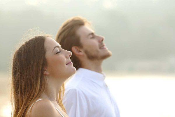 Wohlbefinden Frau und Mann